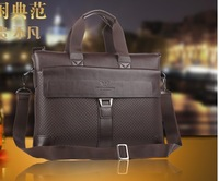 Free shipping 2013 man bag business casual cowhide shoulder bag messenger bag handbag male briefcase bag