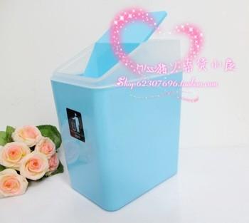 Fashion home Large desktop roll cover square garbage bucket rectangle trash bucket brief paper basket