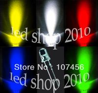 100PCS,5 value UltraBright R,G,B,W,Y,LEDs,3mm +Free Resistors Free Shipping 3mm light-emitting diode