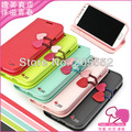 10pcs/lot Original Deere Cherry Series Leather Wallet case for Samsung Galaxy S4 i9500 SIV with retail package , free shipping