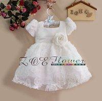 2013 FashionChilidren Girl Flower Dress Purple Children Princess Party Dress 4pcs/Lot Ready Stock Kids ClothingL121008-90