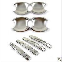 free shipping! 20% off 12pcs chromed door bowl &door handle cover for VW Volkswagen Passat POLO Golf