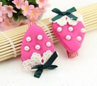 (MIN ORDER $15)2013 New Pearl Chiffon strawberry hairpin MHY081
