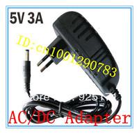Free Shipping 5V 3A EU AU UK US Plug Power supply adapterm  2pcs/Lot