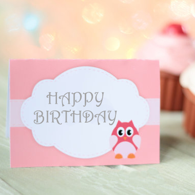 Pink cartoon child birthday supplies decoration table cards table card food(China (Mainland))