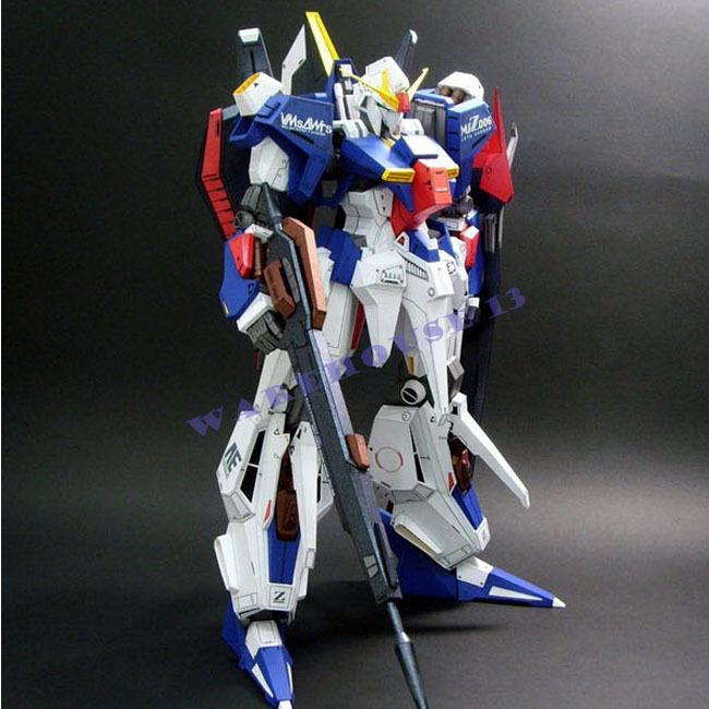 MSZ-006 ZETA Hyper-Z Gundam pearlescent paper 3d puzzle toy for ...