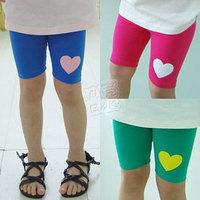 2013 summer love girls clothing baby child 5 pants capris legging kz-1685