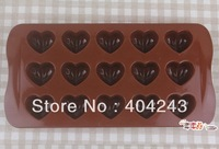 Wholesale silicone cake mold Love Heart Shape Cake Chocolate Muffin Jelly Ice Sugar Mold Mould Maker Cutter 10pcs/lot