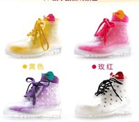 The women transparent rain boots / Crystal boots / water shoes covers shoes