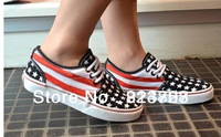 2013 NEW USA America National FLAG STYLE '5 STAR' MEN/WOMEN CANVAS SHOES