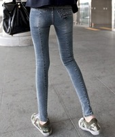 Free shipping IFLY 918F 2013 Newest Girls womens pants Classy Mid Waist Skinny Jeans dress for women sexy lady