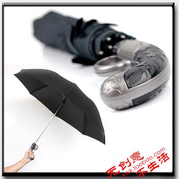 2013 new Cool Short Gun Umbrella Novelty 2 Folding Auto Open Waterproof Umbrella free shipping