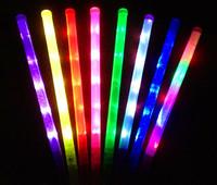 Concert neon stick electronic rainbow bar led Large neon stick colorful glow stick flash stick
