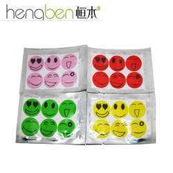 Free shipping wholesale 100 Pack smile anti Mosquito Repellent Sticker Repeller Patch Natural Essential Oil mat 6PCS/BAG(China (Mainland))