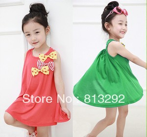 Free Shipping 2013 Summer new girls vest Dress Retail 1 piece