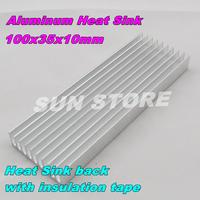Free Shipping  2PCS/LOT Aluminum Radiator 100x35x10mm Aluminum Heat Sink  MOS Tube Memory IC Electronic Module Heat Sink