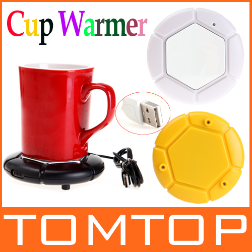 Portable USB Electronics Gadgets Novelty Item Powered Cup Mug Warmer Coffee Tea Drink Heater Tray Pad , Free / Drop Shipping(China (Mainland))