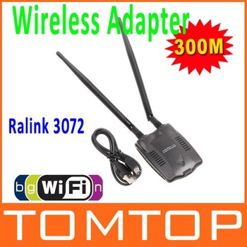 300M USB WiFi Wireless Network Card LAN Adapter 802.11 n/g/b  w/ Antenna MIMO  CCA  ,Free Shipping Drop Shipping Wholesale