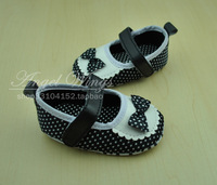 Polka dot small lourie baby princess shoes baby soft slip-resistant outsole toddler indoor shoes