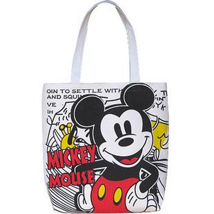"Mickey Mouse canvas happy face handbag Luggage Bag tote 15"" 38cm #BC25"