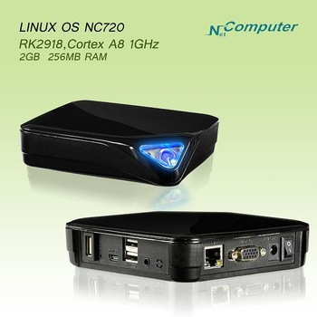 Free shipping  Linux embeded system 256MB Ram support windows7/2008server mini pc