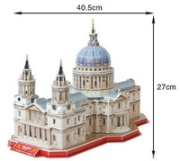 St Paul's Cathedral 3d DIY Puzzle Educational Toy 107 Piece 3d Jigsaw Puzzle