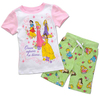 Free shipping 6 sets/lot girl's 100% cotton summer clothing sets, princesses pattern short sleeve t shirt with short pant