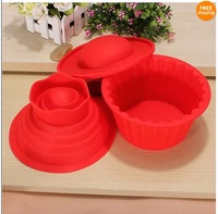 3pcs/set As seen on tv big top giant cupcake silicone mould bake trays birthady cup cake muffin silicone bakeware