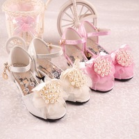 Free shipping wholesale 2013 new kids/girls  princess style fashion open toe  high-heeled pearl package sandals 887