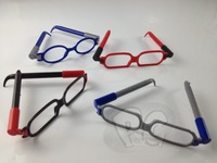 Creative stationery ballpoint pen glasses toy style 4 color ballpen set child free air mail