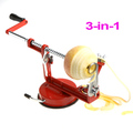 Freeshipping Stainless Steel Fruit Apple Zester Pear Peeler Corer Slicer Suction Base Red 3 in 1  ,Dropshipping Wholesale(China (Mainland))