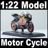 NEW 1:22 Motor Cycle model motorcycle HONDA RC211V World Champion 2005 (raider M. Biaggi) Diecast Model In Box Bike
