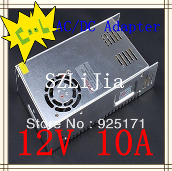 DHL free shipping 10pcs/lot 12V 10A adapter for LED Strip Light Switching power supply