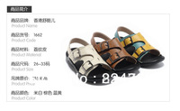free shipping, 2013 of the most popular, best-selling children sandal, leather sandals,high quality,size 26-33