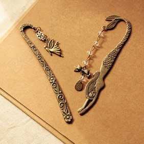 Retro Alloy Metal Bookmark Mermaid Beaded or Angels Butterfly Vintage Bookmark Favor Gift Charm 1J6L