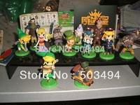 Free shipping--The Legend Of Zelda Spirit Tracks Mini Figures Set Of 11 Brand New Japan version 30set/lot