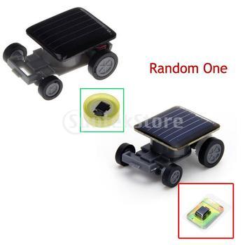 Free Shipping Mini Solar Powered Robot Racing Toy Car