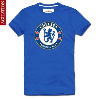 Free Shipping Agitation 2013 100% short-sleeve cotton round neck T-shirt football chelsea