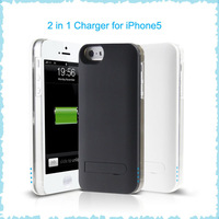 2013 Innovative design external battery charger for i Phone5 1900mah, 2 in 1 external battery charger