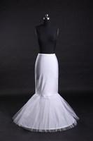 GOOD price and quality ! mermaid petticoat 1 hoops white wedding dress crinoline