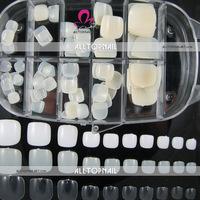 FREESHIPPING 100pcs/box Nature toe Nail Tips Professional Quality Toe False Nail Tips