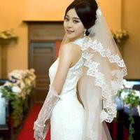 Wave laciness 3 meters lyrate yarn vintage lace decoration bride long veil the wedding veil wedding accessories