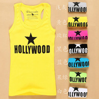 Free shipping 2013 all-match 100% cotton 7 Color Fashion Sleeveless Women's Casual Tank Top Vests T-shirt