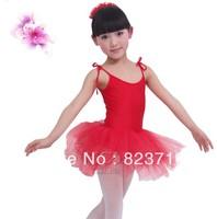 Free shopping child ballet leotard dance tulle dress spaghetti strap Latin skirt performance wear girl dance skirt