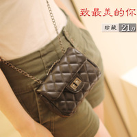 Small plaid chain bag cross-body day clutch camera bag mobile phone bag 2013 spring and summer women's handbag
