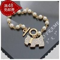 K-1063 accessories sparkling diamond pearl bracelet female