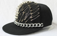 Baseball cap punk rivet hiphop hip-hop hiphop baseball flat brim hat s2