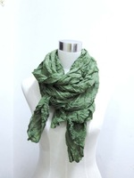 green woman scarf fashion spring summer wrinkle shawl to block sun large scarf 190*90cm beach scarf free shipping