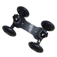 [Drop Shipping] Tabletop DSLR Camera Dolly Slider Skater Wheel Truck Stabilizer fr 5D2 Video