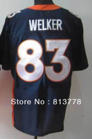 2013 new Style  American Men&#39;s Football Jerseys Denver  #83 WELKER  blue  elite  Embroidery logos  Jersey free shipping